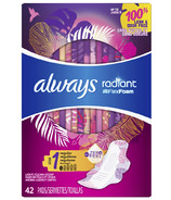 Always Radiant Regular Sanitary Pads Light Clean Scent With Wings