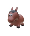 Farm Hoppers Inflatable Bouncing Horse Brown