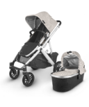UPPAbaby VISTA V2 Stroller Sierra Dune Knit Silver Black Leather