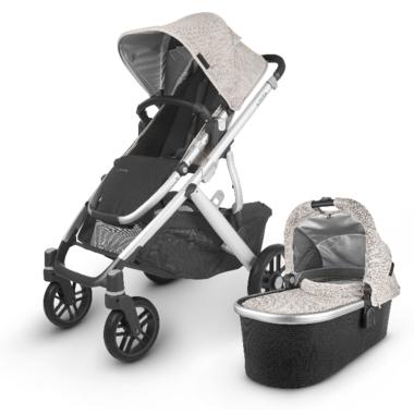 UPPAbaby VISTA V2 Stroller Sierra Dune Knit Silver Black Leather