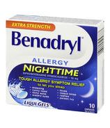 Benadryl Nighttime Allergy Liqui-Gels