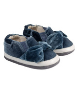Robeez Mini Shoez Bella's Bow Slate Velvet