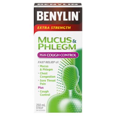 Benylin Extra Strength Mucus & Phlegm + Cough Control Syrup