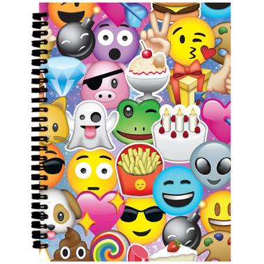 Iscream Emoji Collage 3D Small Journal