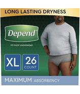 Depend FIT-FLEX Incontinence Underwear for Men Maximum Absorbency XL
