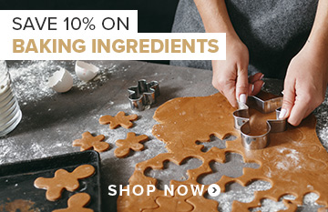 Save 10% off Baking Ingredients