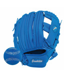 "Franklin Sports 9.5"" RTP Performance Glove and Ball Royal Blue"