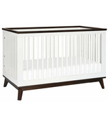 Babyletto Scoot 3-in-1 Convertible Crib White and Walnut