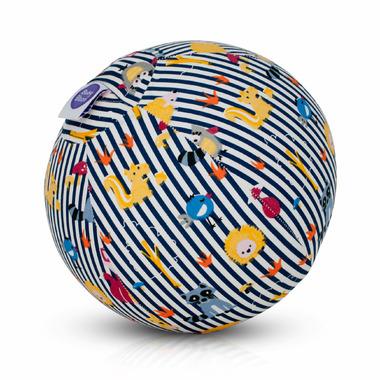 BubaBloon Balloon Cover Blue Animal Stripes