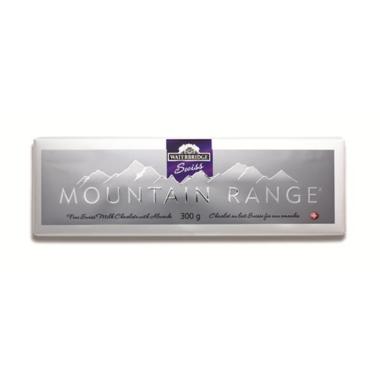 Waterbridge Swiss Mountain Range Milk Chocolate Almond Bar