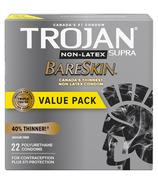 Trojan Supra Non-Latex BareSkin Préservatifs lubrifiés en polyuréthane