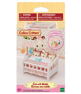 Calico Critters Crib with Mobile Dollhouse Furniture Set
