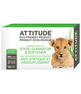 ATTITUDE Static Eliminator & Softener Cloth Dryer Sheets