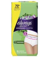 Always Discreet Incontinence & Postpartum Underwear for Women Maximum XL