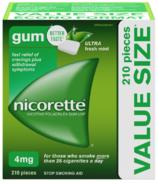 Nicorette Nicotine Gum Ultra Fresh Mint 4mg