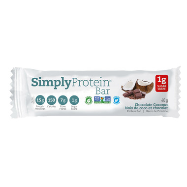 Simply Protein Bar Chocolate Coconut Case