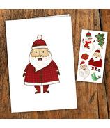 PiCO Carte de vœux du Père Noël & Tatouages temporaires