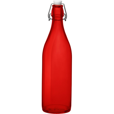 Bormioli Rocco Giara Bottle with Stopper Red