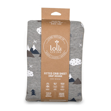 Lolli Living Fitted Sheet Peaks