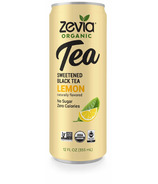 Zevia Organic Sweetened Black Tea Lemon