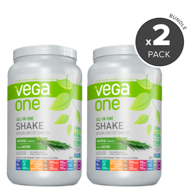 Vega One All-In-One Natural Nutritional Shake 2 Pack Bundle