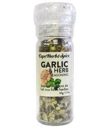 Cape Herb & Spice Moulin à épices de table Assaisonnement à l'ail et aux herbes