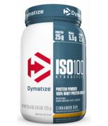 Dymatize Nutrition ISO100 Hydrolyzed Protein Powder Cinnamon Bun