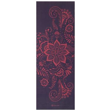 Gaiam 6mm Premium Yoga Mat Aubergine Swirl