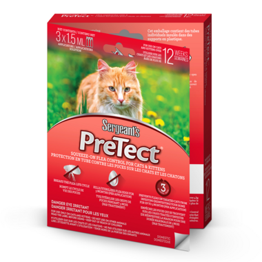Sergeant\'s PreTect Squeeze-On Flea Control For Cats