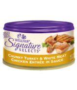Wellness Signature Selects Chunky Turkey & Chicken Wet Food CASE OF 12