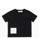Miles Baby Short-Sleeve T-shirt in Heather Black with Pocket 12M-24M