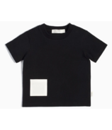 Miles Baby Short-Sleeve T-shirt in Heather Black with Pocket 2Y-4Y