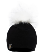 Lox Lion 3 Seasons Hat with Pompom Black