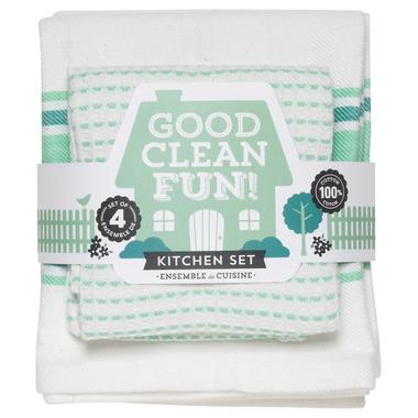 Now Designs Good Clean Fun Spearmint Kitchen Set