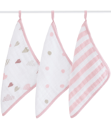 aden + anais Washcloth Set Heart Breaker