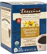 Teeccino Dandelion Turmeric Roasted Herbal Tea
