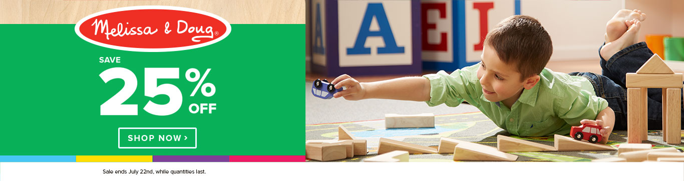 Save 25% off Melissa & Doug