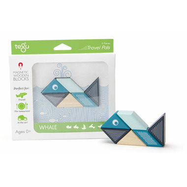 Tegu Magnetic Wooden Blocks Travel Pals Whale