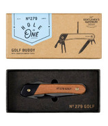 Gentlemen's Hardware Golf Multi Tool Wood Handles Titanium Finish