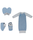 Juddlies Raglan Collection Newborn Bundle Denim Blue