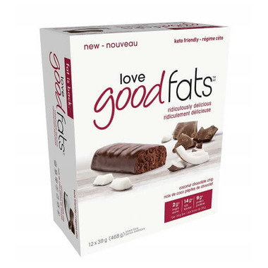 Love Good Fats Coconut Chocolate Chip Bar Case