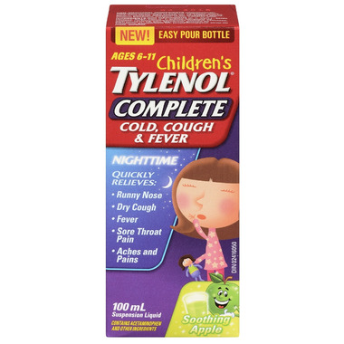 Tylenol Children\'s Complete Cold, Cough & Fever Nighttime Suspension Liquid