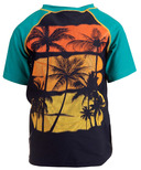 Appaman Palm Tree Rash Guard Teal