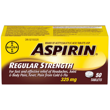 Aspirin Regular Strength Tablets Medium Bottle