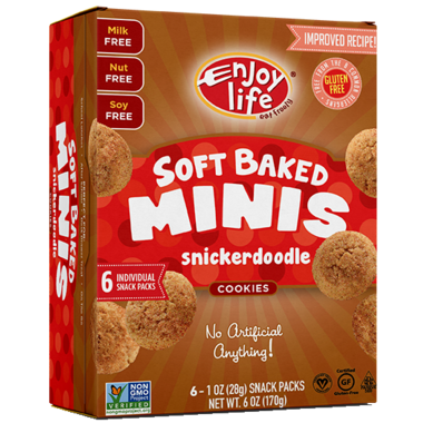 Enjoy Life Mini Soft Baked Cookies Snickerdoodle