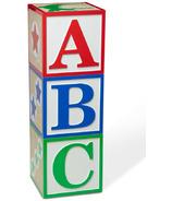 Melissa & Doug Wooden Jumbo ABC-123 Blocks Primary