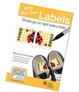 Emily Press Labels Shoe Labels Ladybugs