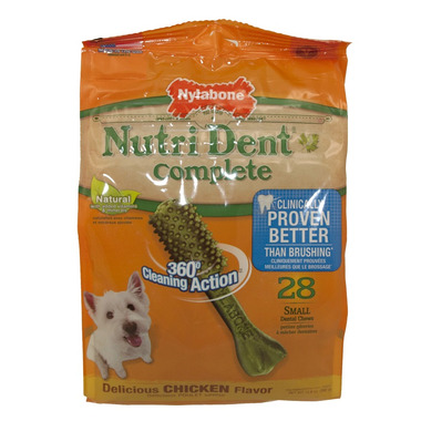 Nutri Dent Complete Dental Chews Chicken Small Size 28 Pack