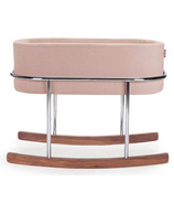 Monte Design Rockwell Bassinet Blush Basket & Walnut Base