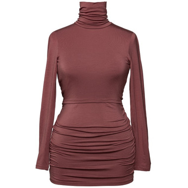 Boob Flatter Me Top Polo Neck Pompei Red
